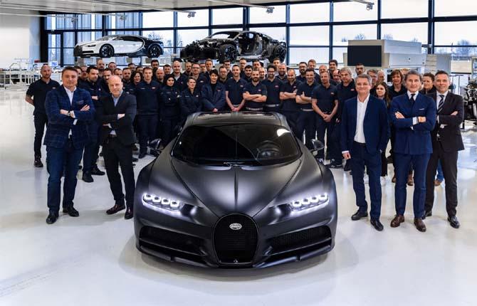 Bugatti Chiron, prodotto il 250esimo esemplare