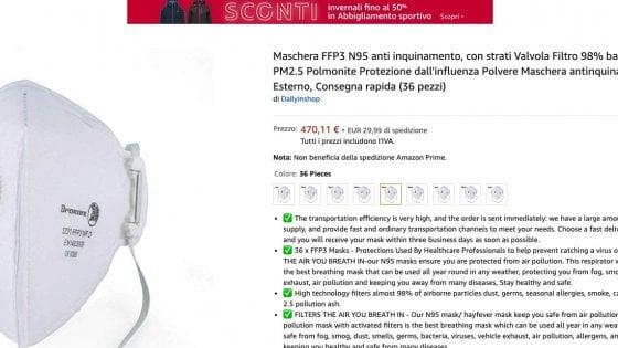 Coronavirus, prezzi alle stelle per gel e mascherine: Amazon bacchetta gli speculatori in Italia e all'estero