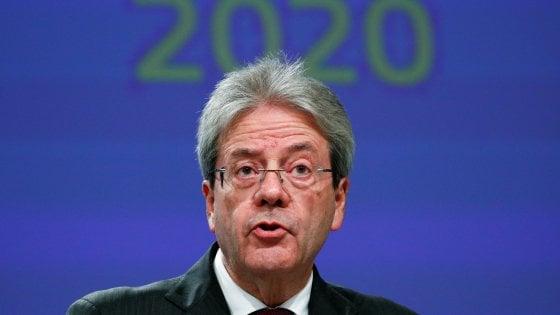 Il commissario Ue, Paolo Gentiloni