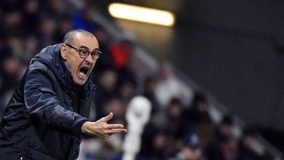 """Juventus sconfitta a Lione, Sarri scarica i suoi: """"Sono in difficoltà, non riesco a far passare i concetti"""""""