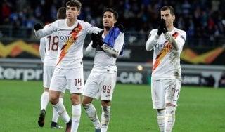 Europa League, Gent-Roma 1-1: Kluivert replica a David e lancia i giallorossi agli ottavi