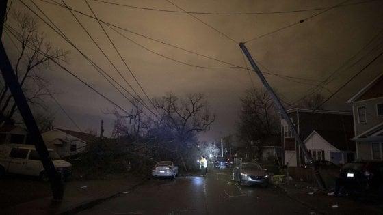 """Usa, tornado si abbatte su Nashville: 25 vittime. Le autorità: """"Bilancio solo provvisorio"""""""