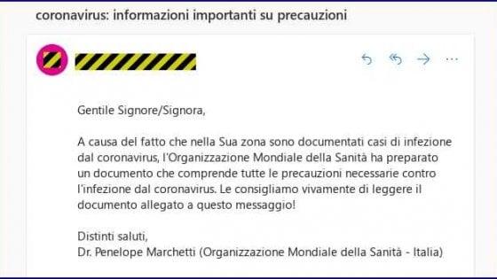 Coronavirus, attenti al malware: l'email (falsa) dell'Oms nasconde una cybertruffa