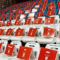Basket, partita a porte chiuse: a Trieste tifosi sugli spalti ma solo sui cartoncini