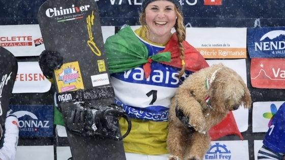 """Snowboard, Moioli vince la Coppa del mondo: """"Dedicata all'Italia"""""""