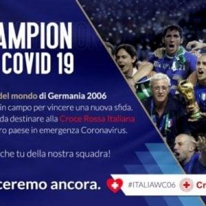 """Coronavirus, i Campioni del 2006 """"in campo"""" per aiutare la Croce Rossa"""