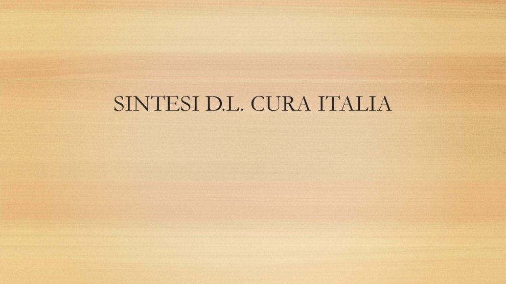 Il decreto Cura Italia: tutte le misure nelle slide del governo