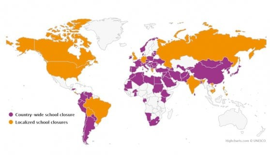 """Coronavirus, l'allarme Unesco: """"Il mondo ha chiuso scuole e università"""""""