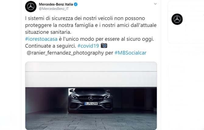 Basta fake news sul coronavirus: anche Mercedes in campo con i suoi social