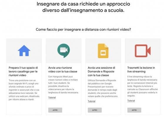 """""""Insegna da casa"""", il portale Google per aiutare gli insegnanti a fare lezione in remoto"""