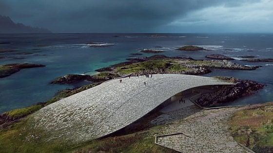 Norvegia. Sembra una balena: è un osservatorio che servirà per ammirarle