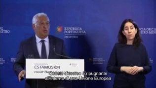 Il premier portoghese attacca ministro olandese: 'Ripugnante'