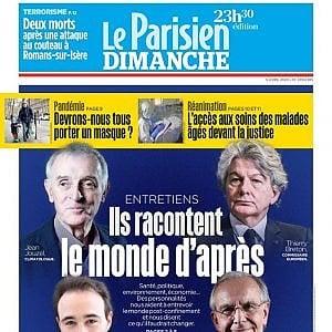 """Francia, gaffe del quotidiano Le Parisien: """"Il futuro dopo il virus"""". Parlano gli uomini"""