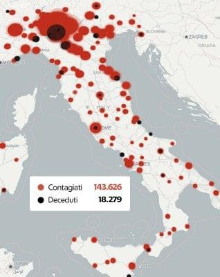 Il numero di tamponi, la curva dei contagi, la letalità: mappe e grafici per capire la pandemia