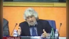 """Quando Grillo, nel 2014, a Strasburgo invitava l'Ue a non dare fondi all'Italia: """"Finiscono alle mafie"""""""