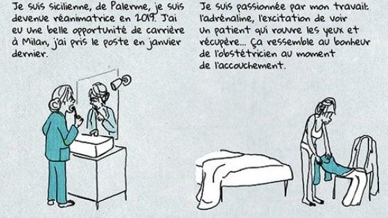 """Coronavirus, la fumettista Luzzati: """"Le mie vignette sui medici italiani ispirate dagli articoli di Repubblica"""""""