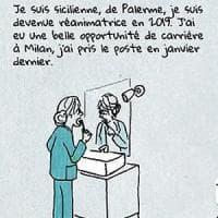 """Coronavirus, la fumettista Luzzati: """"Le mie vignette sui medici italiani ispirate dagli..."""