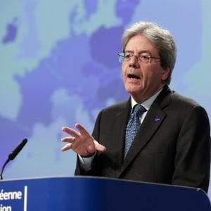 Il commissario Ue all'Economia Paolo Gentiloni