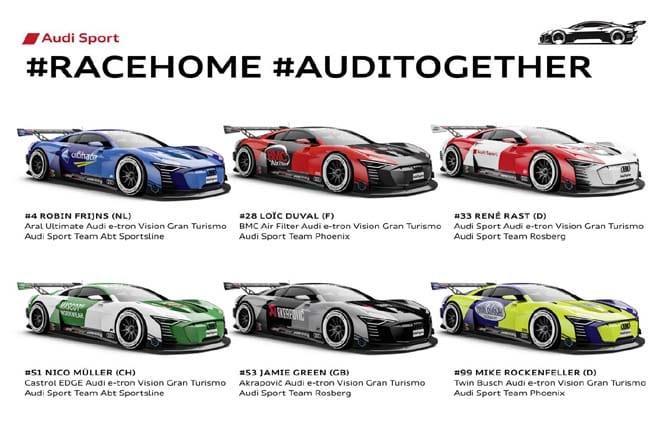 #RaceHome, parte la sfida ai piloti ufficiali Audi