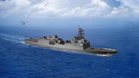 Il rendering delle fregate FFGX che Fincantieri costruirà per la US Navy