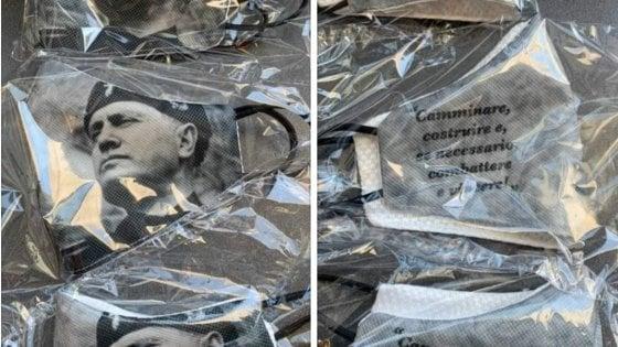 A Verona le mascherine con il volto del Duce