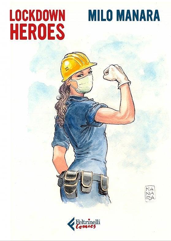 Milo Manara: un portfolio dedicato ai 'lockdown heroes' per aiutare gli ospedali di Milano, Napoli e Padova