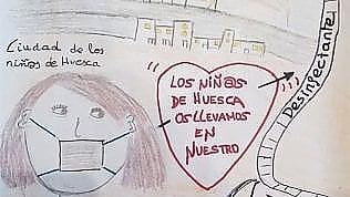 A Huesca i bambini video-chiamano gli anziani nelle case di riposo della città