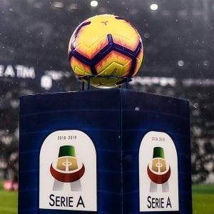 """Serie A, le partite in tre """"finestre"""": ore 16,30, 18,45 e 21"""