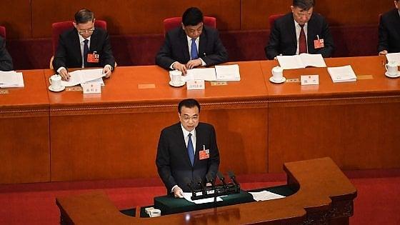 """Cina, premier Li: """"Nessun obiettivo di crescita del Pil per il 2020"""""""