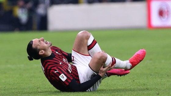 Milan, lesione al polpaccio per Ibrahimovic: il tendine d'Achille è salvo