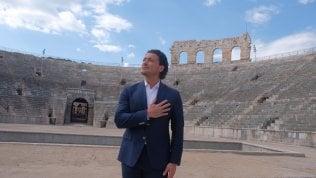 """Vittorio Grigolo canta l'Inno di Mameli: """"Io, solo nell'Arena come il Gladiatore"""""""