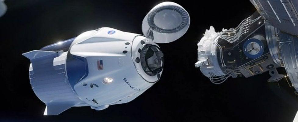 """L'equipaggio della Crew Dragon è entrato nella Iss. """"Nuova era dell'esplorazione spaziale"""""""
