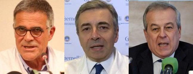 Da sinistra: Zangrillo, Richeldi e Locatelli
