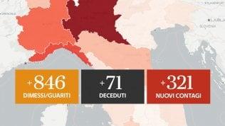 Il bollettino: 71 morti, 321 nuovi contagi (tre su 4 in Lombardia). Zero vittime in 11 regionia cura di ALESSIO SGHERZA