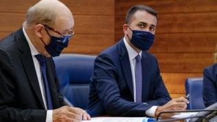 L'incontro tra Di Maio e il collega francese Le Drian