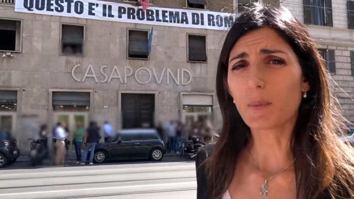 """Sequestrata sede di Casapound a Roma, Raggi: """"Vittoria per la città"""". Il Pd: """"Sindaca al balcone, grazie alla Procura"""""""