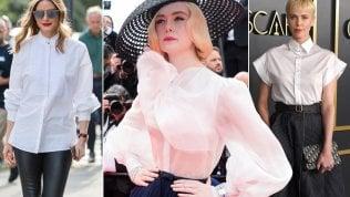 Estate 2020: la camicia bianca si porta anche come chemisier