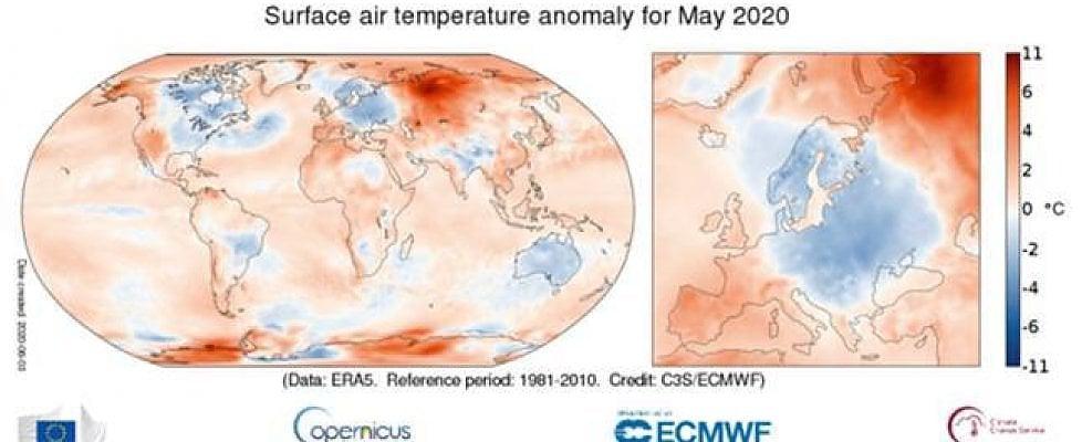 Quello del 2020 è stato il maggio più caldo nel mondo da 30 anni