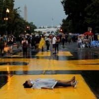 Washington  in piazza per la grande manifestazione antirazzista