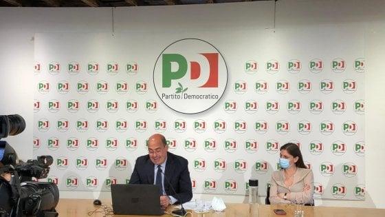 """Direzione Pd, Zingaretti: """"No a contrapposizione con Conte, ma al governo serve salto di qualità"""""""