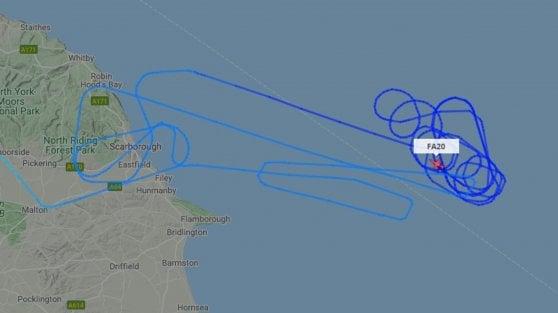 Caccia statunitense si schianta nel Mare del Nord. In corso le ricerche del pilota