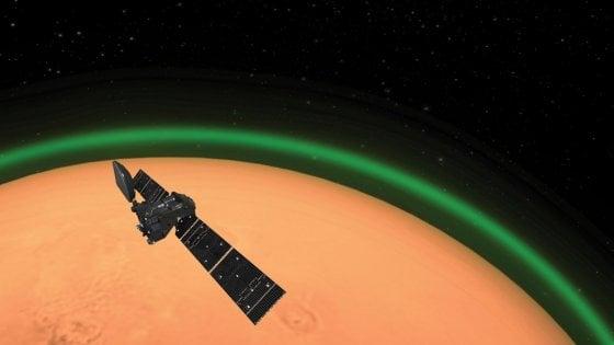"""Anche su Marte esiste il """"raggio verde"""" attorno all'atmosfera"""