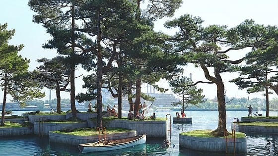 Copenhagen, nasce il Parkipelago: isole artificiali per aumentare il verde pubblico nella stagione del distanziamento