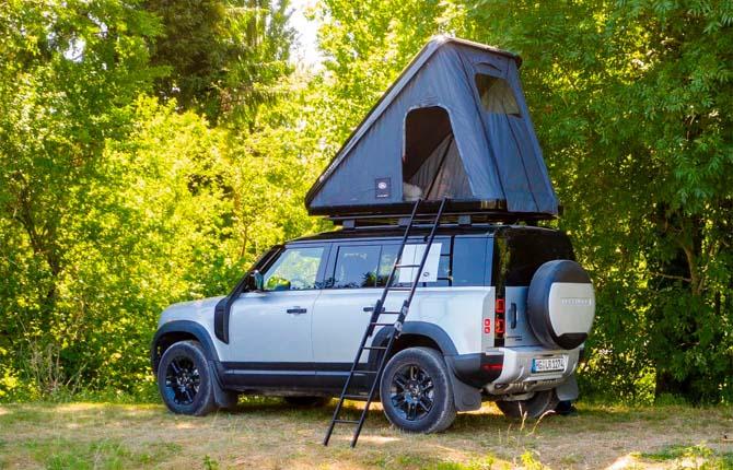 Land Rover e Autohome, una tenda da tetto per la nuova Defender