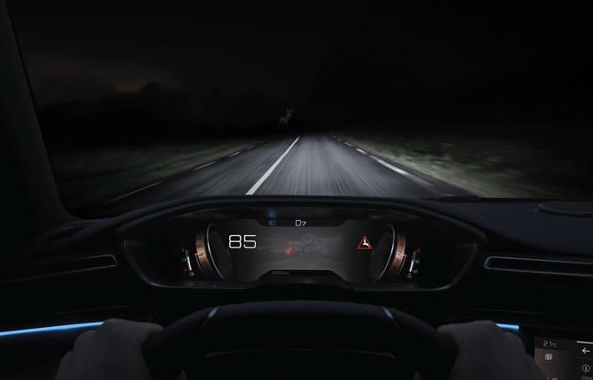 Peugeot Night Vision, se due occhi non bastano
