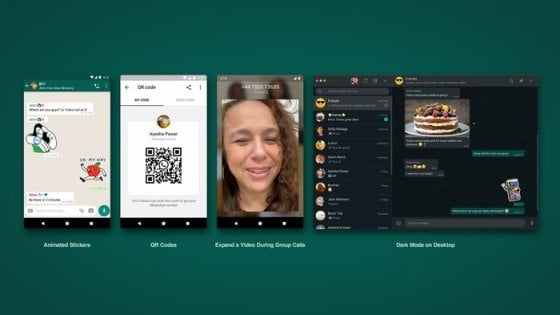 Whatsapp, novità in arrivo: dagli sticker animati ai codici QR