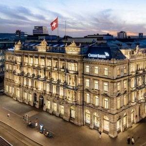Il quartier generale di Credit Suisse a Zurigo, Svizzera