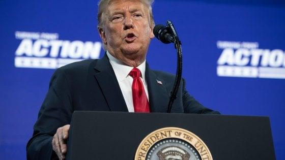 """Trump attacca la Cina e Biden: """"Se vince lui, Wall Street va a picco"""""""
