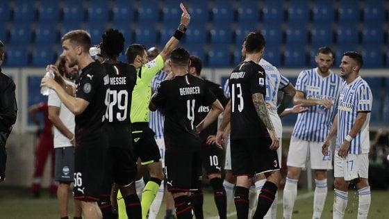 Spal-Milan 2-2, super recupero con il ritorno di Ibrahimovic