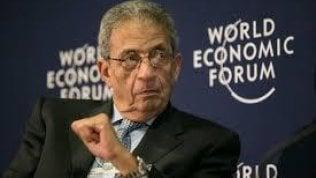 """Egitto, parla l'ex ministro degli Esteri Amr Moussa: """"Con l'Italia collaborazione inevitabile"""""""
